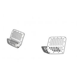 Ventilation grilles front