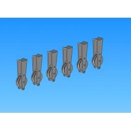 Poleas de cola Lama x6 1:5