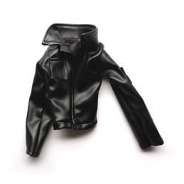 Black leather jacket 1:8