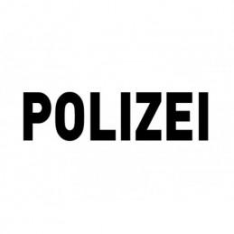 Letrero de Polizei