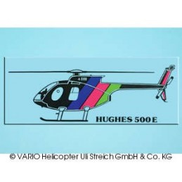 Autoaufkleber Hughes 500 E...