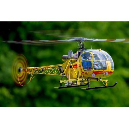 Kit de Fuselaje Alouette II para mecanica electrica y gasolina