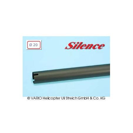 Tubo de cola de  20 x 0.5 x 790 mm, negro