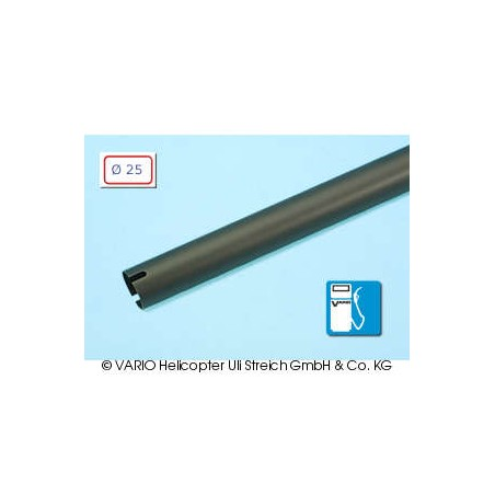 Tail boom 25 x 0.8 x 910 mm, black