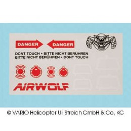Foglio decalcomania AIRWOLF
