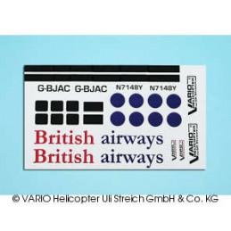 Decal sheet British airways