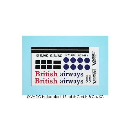 Set de pegatinas British airways