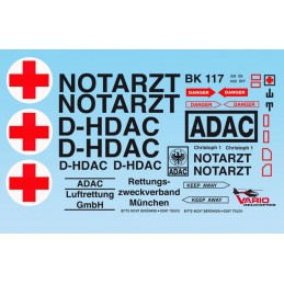 Decal sheet NOTARZT