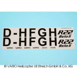 Decal sheet Robinson R22