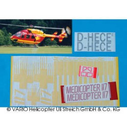 Decal sheet MEDICOPTER 117