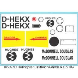 Set de Pegatinas para Hughes