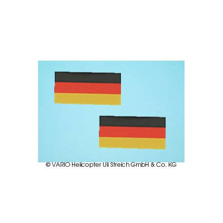 Set de pegatina bandera alemana (pequeoa)