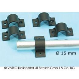 Skid clamp 15 mm ∅, GRP