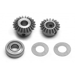 Bevel gear set, speed up...