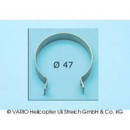 Stainless steel clamp, 47 mm